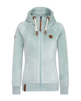 Velourhoodie Naketano Brazzo Mack Soft Blue