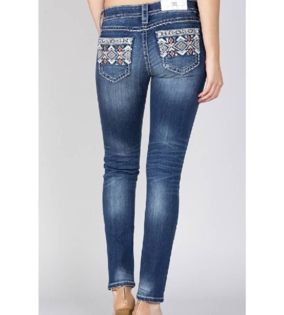 Miss Me Mid-Rise Straight Cut Jeans