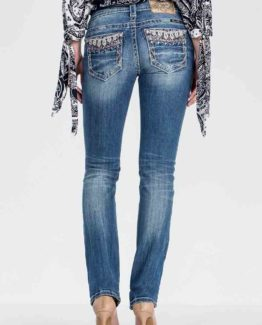 Miss Me Sweet Soul Mid-Rise Straight Cut Jeans