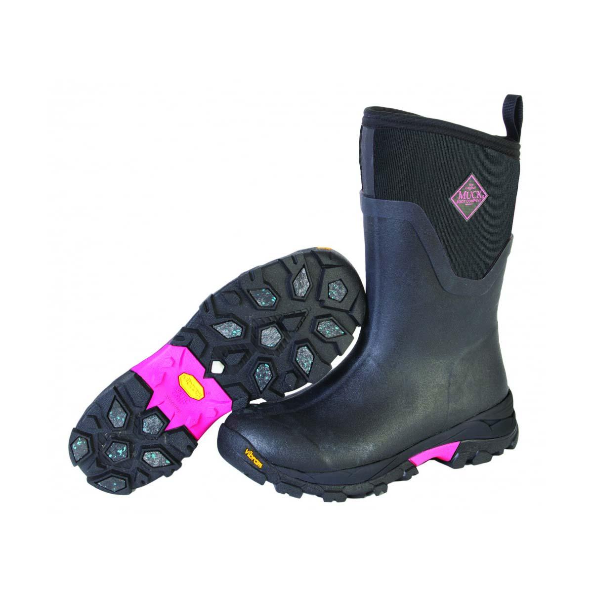 Gummist 246 Vel Muck Boot Women S Arctic Ice Mid Svart Rosa