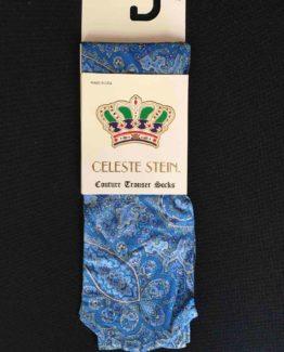 Ridstrumpa Celeste Stein - Blue Paisley
