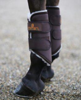 Benskydd Kentucky Turnout Boots Solimbra Front   Brun