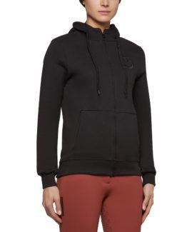Cavalleria Toscana Embossed Embroidery Logo Hooded Zip Sweatshirt