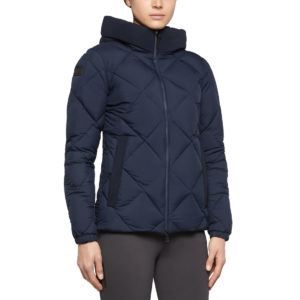 Jacka Cavalleria Toscana Quilted Nylon Hooded Puffer W/Fleece Pocket Lining