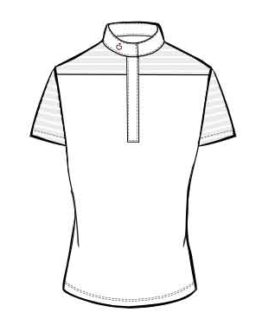 Tävlingspiké Cavalleria Toscana Transparent Wool Stripe Jersey S/S