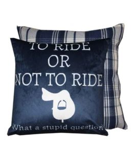 Kudde To Ride Or Not To Ride från Grays Equestrian Gifts