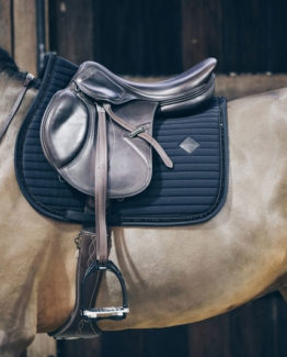 Schabrak Kentucky Horsewear Saddle Pad Pearls Show Jumping | Svart