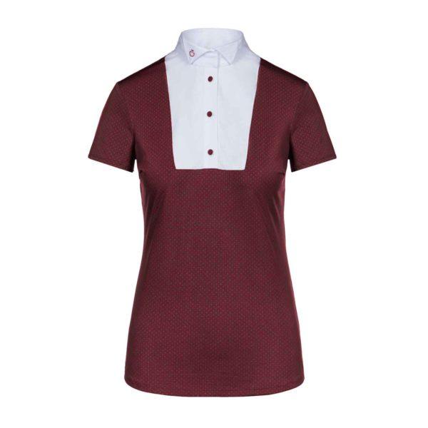 Cavalleria Toscana Wing Collar SS Shirt With BIB