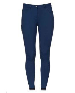 Cavalleria Toscana New Grip System Piping Logo Breeches knäskodd