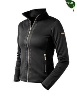 Fleecejacka Black Edition Gold Equestrian Stockholm