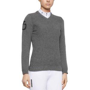 Tröja Cavalleria Toscana V-Neck Seed Stitch Sweater