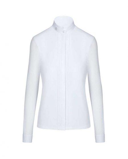 Tävlingsskjorta Cavalleria Toscana Transparent Jersey Elegant Competition L/S Shirt