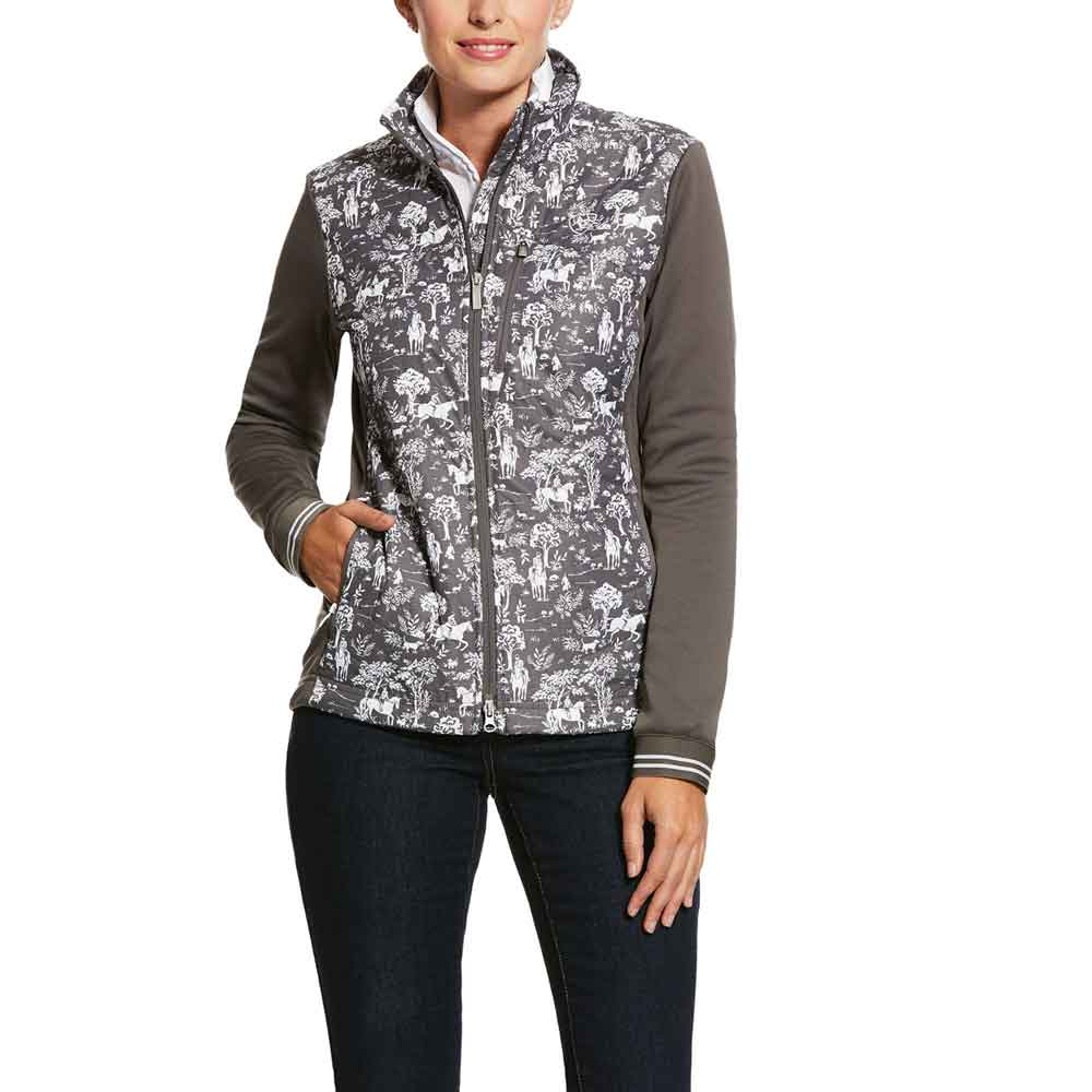 Funktionsjacka Ariat Woman's Hybrid Insulated Jacket | Plum Grey Toile