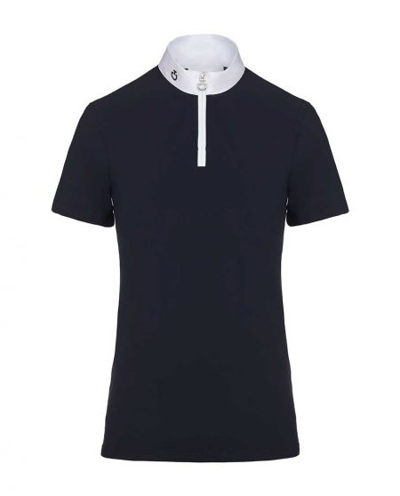 Tävlingstopp Cavalleria Toscana Jersey + Knit Competition S/S Polo
