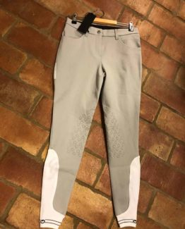 Knäskodd ridbyxa Cavalleria Toscana New Grip System Piping Logo Breeches