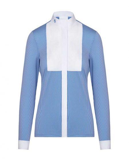 Tävlingstopp Cavalleria Toscana Embossed Stripe LS Shirt with BIB