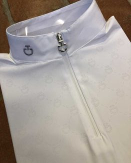 ävlingstopp Cavalleria Toscana CT Laser Perforated Competition Zip Polo