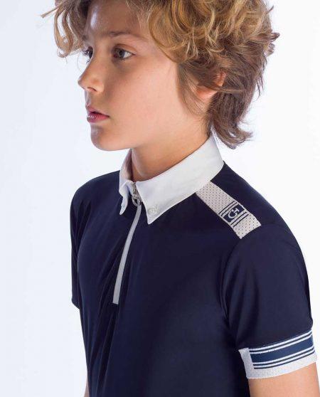 Tävlingsskjorta Cavalleria Toscana Jersey Competition Polo W/Laser Cut Logo Insert