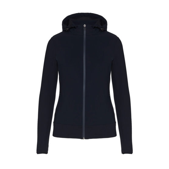 Embosssed Jersey Hooded Jacket