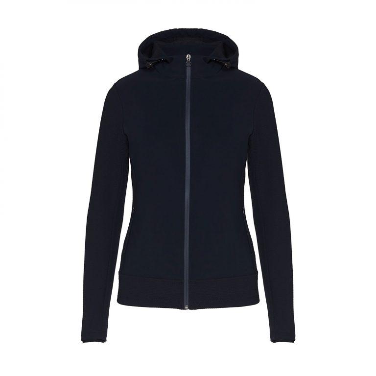 Embosssed Jersey Hooded Jacket