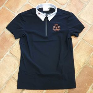 Tävlingsskjorta Cavalleria Toscana CT Horse And Rider S/S Jersey Competition Polo