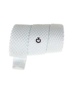 Vit tävlings-slips från Cavalleria Toscana CT Cravatta Tricot