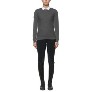 Tröja Cavalleria Toscana Wool Knit Honeycomb V-Neck Sweater