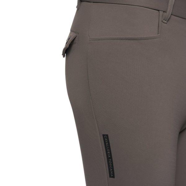 Cavalleria Toscana Men's New Grip System Piping Logo Breeches